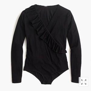 NWOT Jcrew ruffle front bodysuit